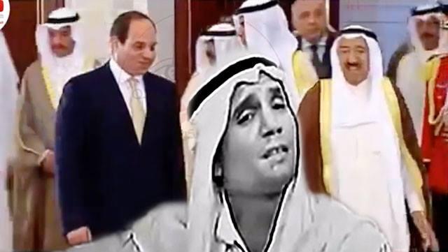 فيديو.. رغم وفاته عبد الحليم حافظ يشارك في استقبال الرئيس السيسي