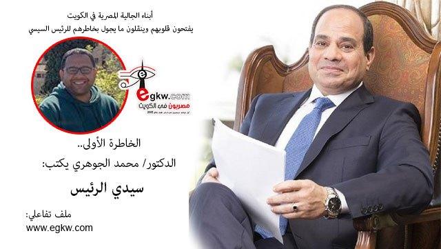 الخاطرة الأولى.. الدكتور/ محمد الجوهري يكتب.. سيدي الرئيس