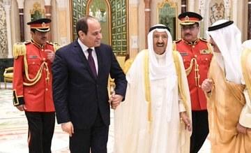 الرئيس السيسى للأمير صباح الأحمد: أمن الكويت والخليج من أمن مصر
