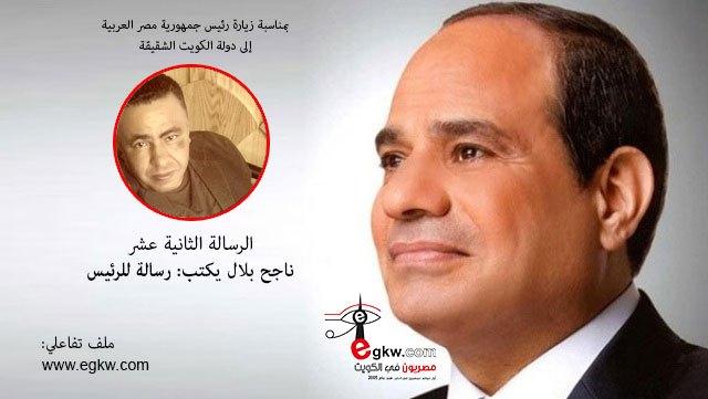 الرسالة الثانية عشر.. ناجح بلال يكتب: رسالة للرئيس