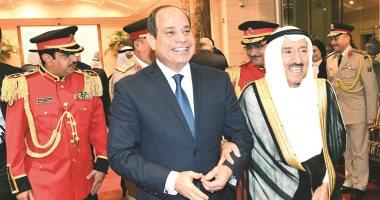 الأمير صباح الأحمد للرئيس السيسى: مصر تتمتع بمكانة خاصة لدى الشعب الكويتى