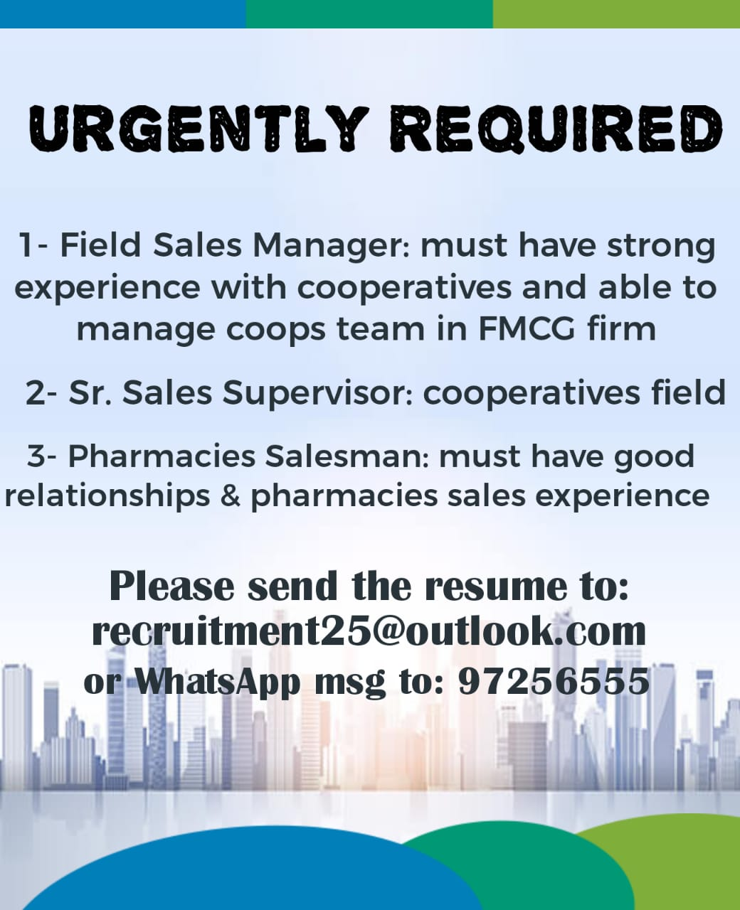 sales vacancies